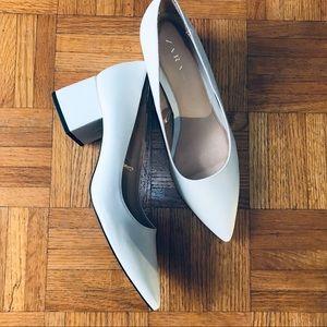 Zara Trafaluc Block Heels in Ivory, Size 8.5